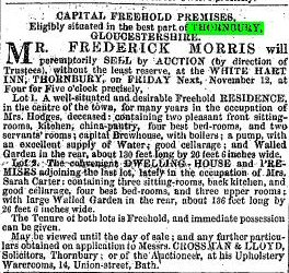 1847 6th nov sale of hodges and Carter
