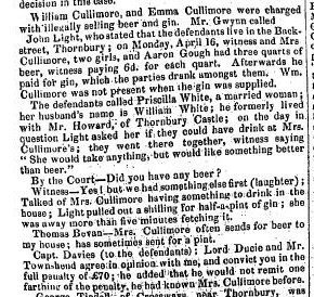1855 Petty Session Courts Cullimore blind house