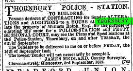 1859 10th Sep New Police Station at W Rolphs