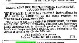 1884 sale of Black Lion Castle St