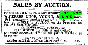 1899 Horseshoe Inn sale 1899 Underhill
