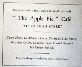 Apple Pie Restaurant advert