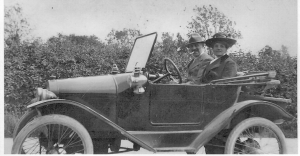 Charles and Ella Phelps in their car