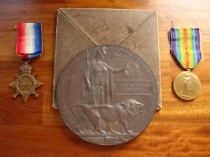 Death medal of Thomas E Underhill