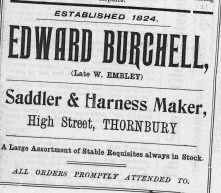 Edward Burchell saddler 1904