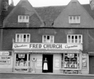 Fred Church's shop on the Plain
