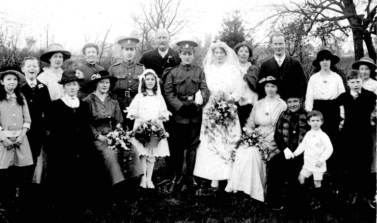 Hetty Carter's wedding WW1