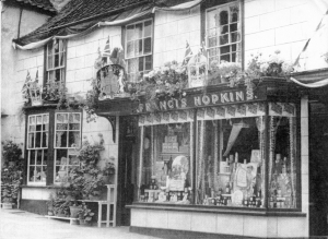 Hopkin's shop with decorations