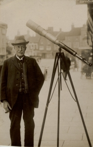 James Spencer Palmer with telescope