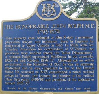 John Rolph plaque