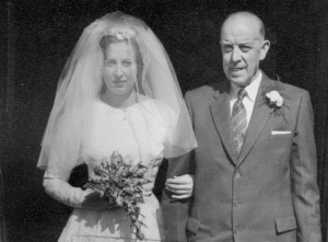 Margaret & Hubert Baylis at wedding