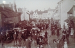 Market in High Street before 1911
