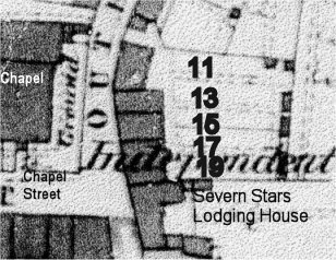 1881 OS plan with house numbers
