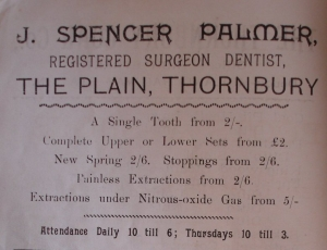 Spencer Palmer dentist 1897