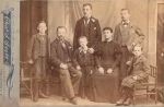 Thomas & Fanny Browning with 5 kids before Canada