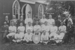 Wesleyan football Team 1923 with names